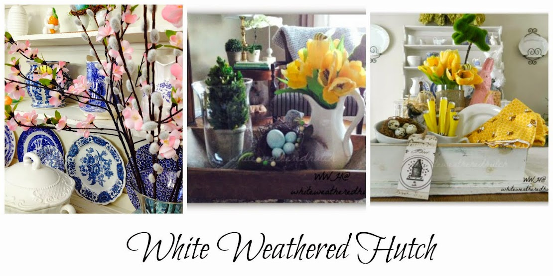 White Weathered Hutch