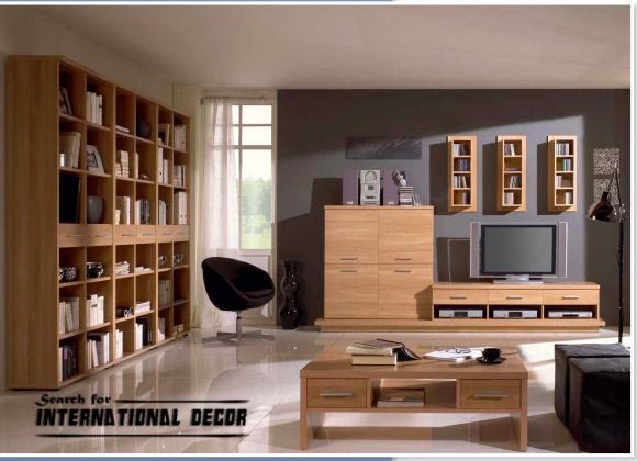 Polish furniture for the living room with TV unit