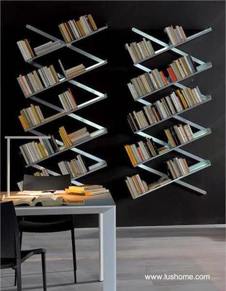 Estantes de libros de diseño innovador