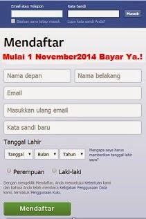 November 2014 FB Berbayar Hanya Hoax