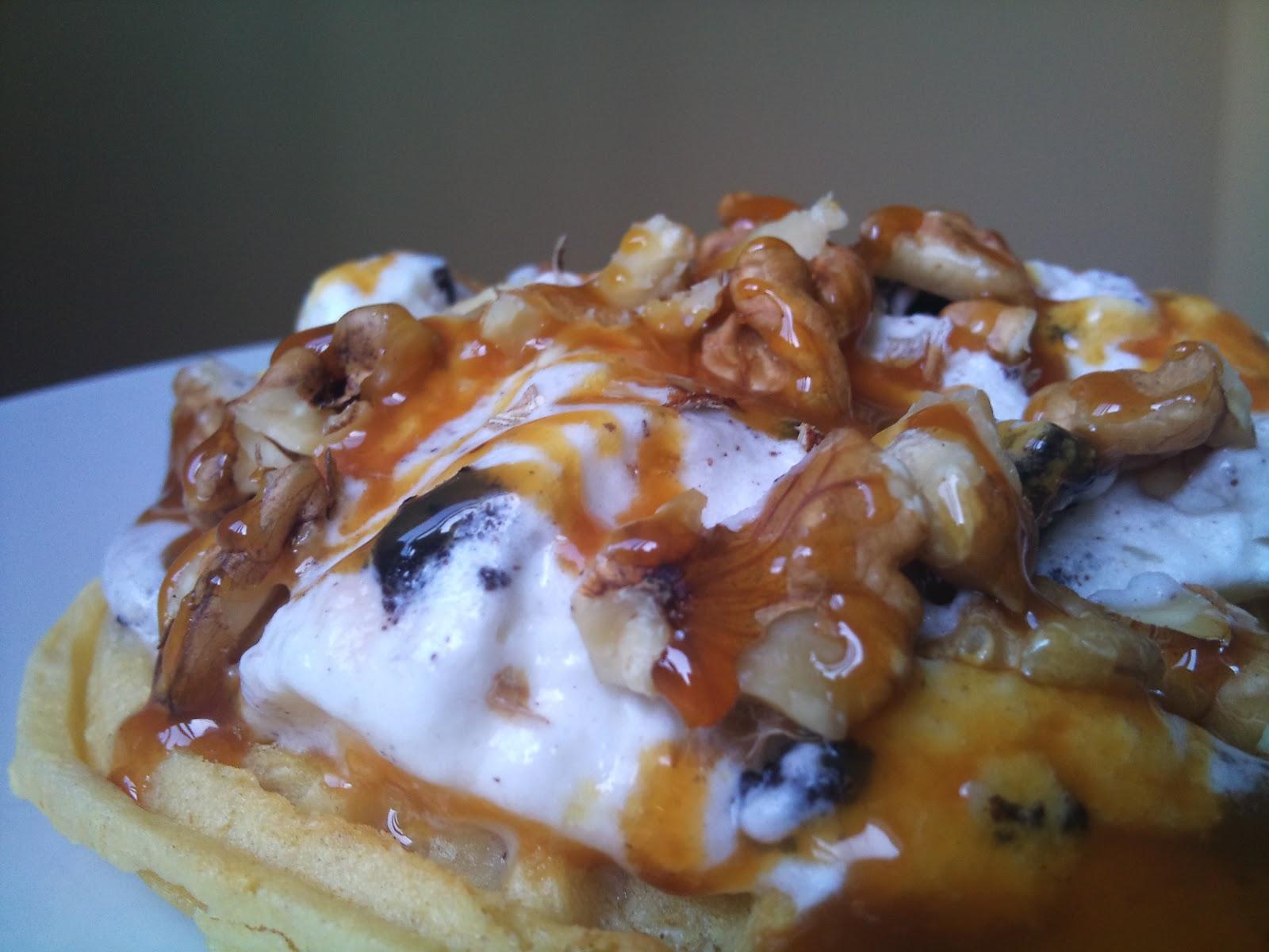 Ice-Cream & Waffle Quick Dessert | Daalcheeni