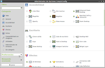 Compiz Config Settings Manager