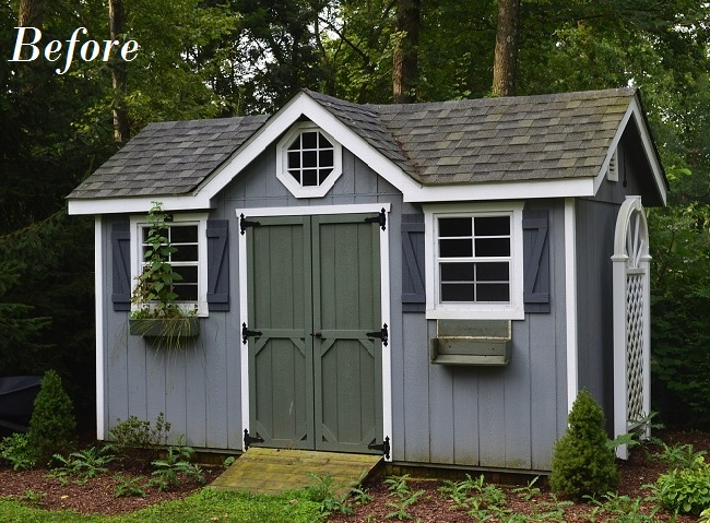 Backyard Sheds Lowes : My sweet little garden shed has lost its curb appeal Since this is
