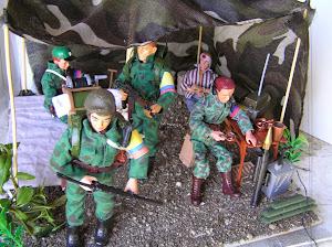 Diorama campamento FARC
