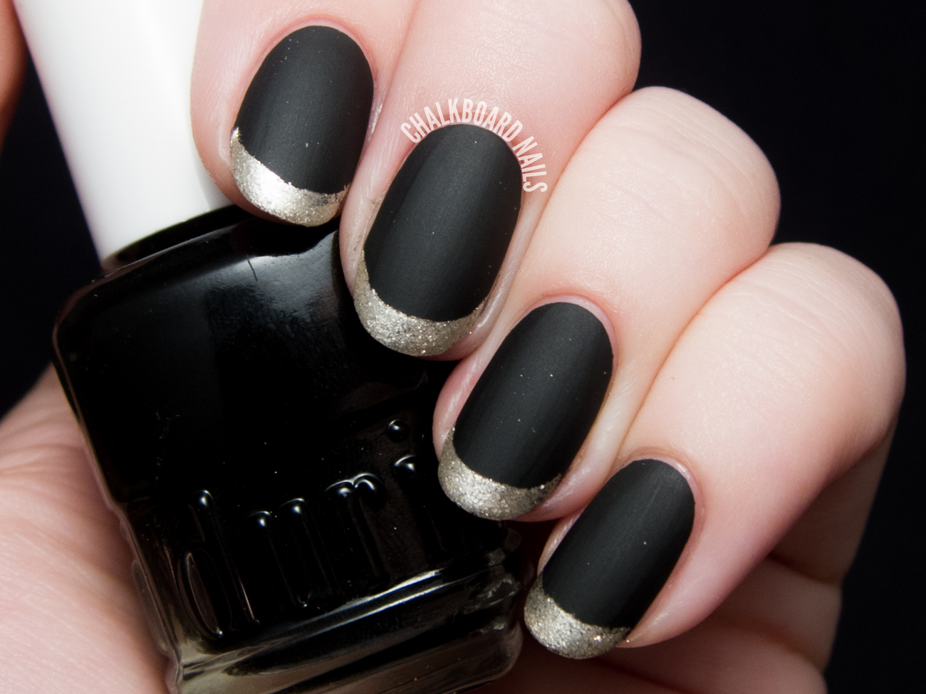 Matte Metallic French Tips By Chalkboardnails