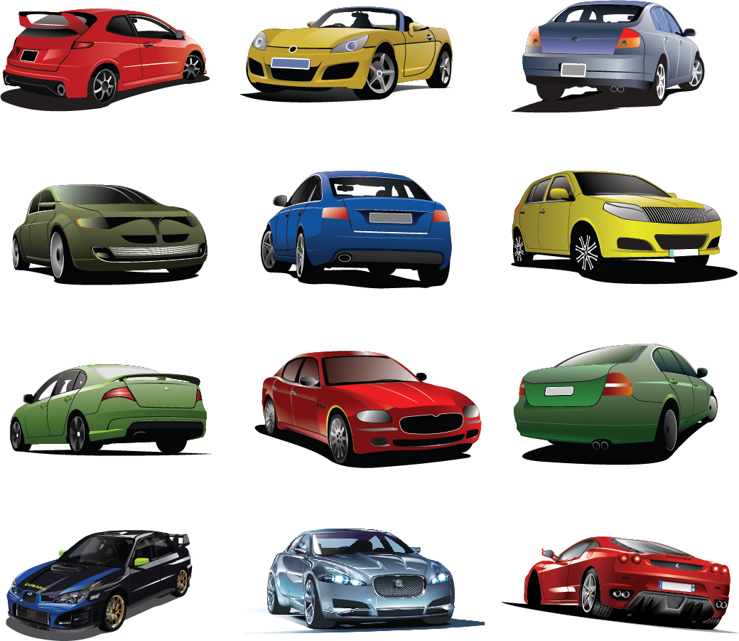 自動車のクリップアート Free Cars Vector Set イラスト素材