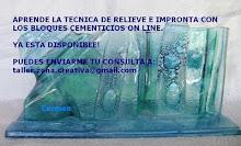TECNICA DE RELIEVE E IMPRONTA CON BLOQUES CEMENTICIOS