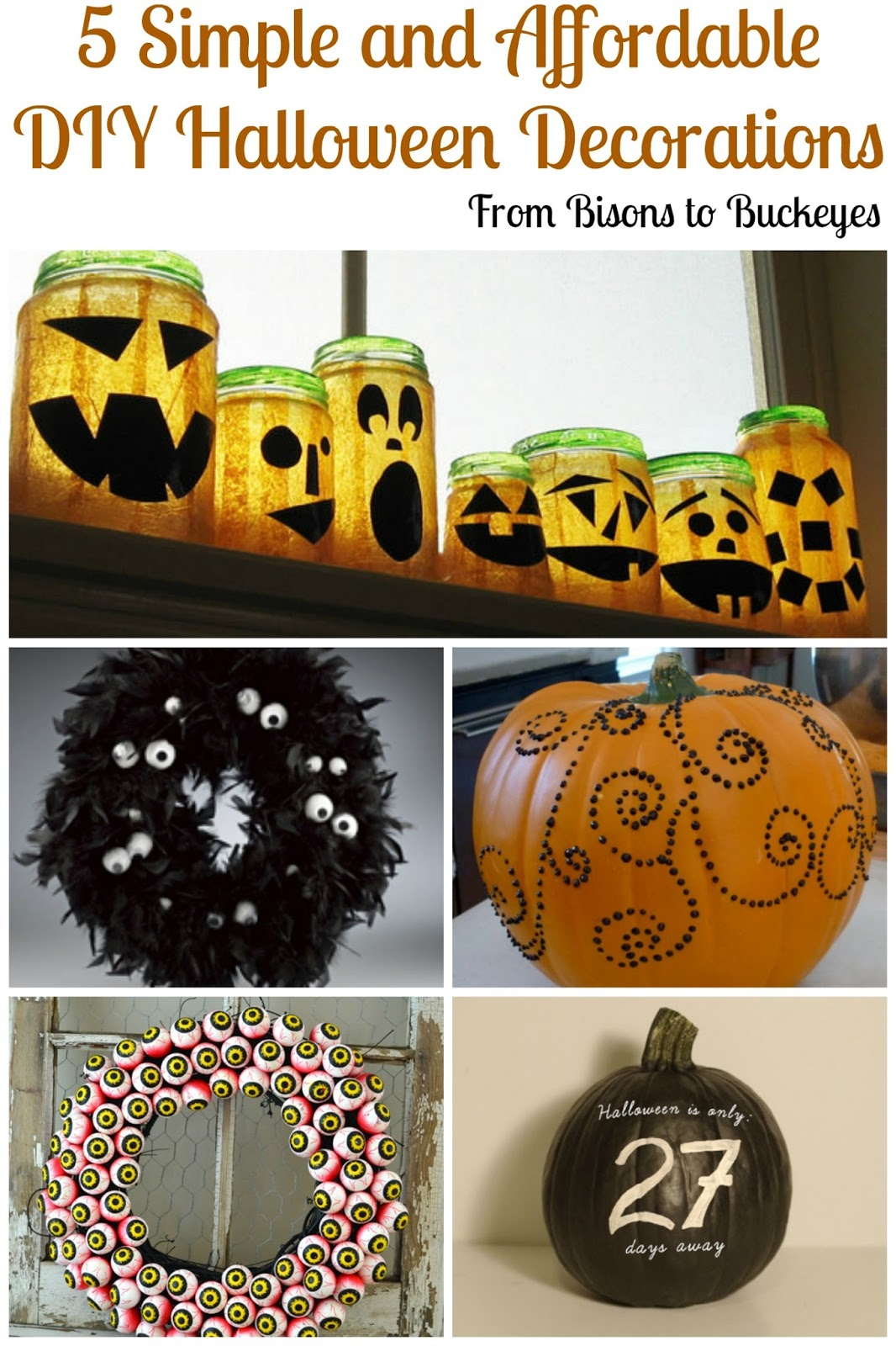 DIY Halloween Decor RoundUp