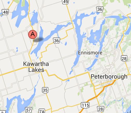 image map 5 Cameron Road,  Kawatha Lakes Ontario