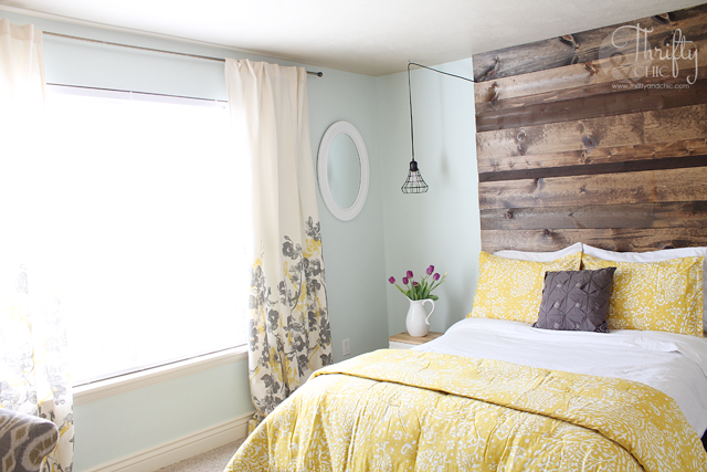 Guest room decorating ideas -Dewy by Sherwin-Williams