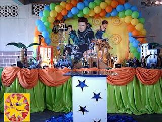 Fiestas Infantiles Decoradas con Max Steel