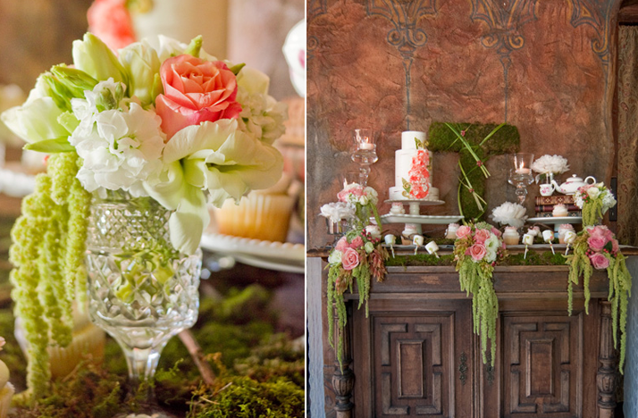 Green wedding flowers centerpieces http refreshrose for Centerpiece flowers for wedding reception