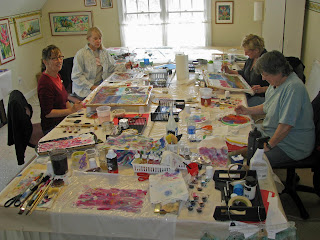 Deborah Younglao silk painting workshop: studio