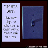 how to get things done fast, efficient, power is out, my electricity is out, what to do when the lights are out