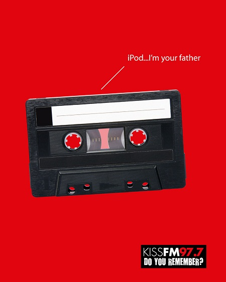 KISS FM 97.7 amusing and humorous print ads