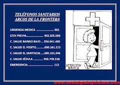 TELÉFONOS SANITARIOS DE ARCOS DE LA FRONTERA