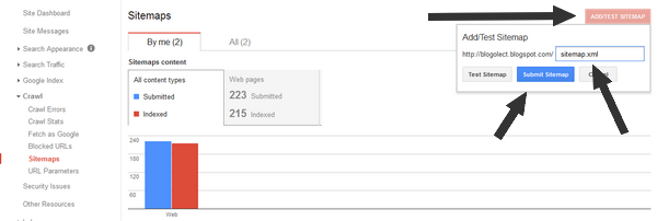 how to submit your sitemap to google webmaster tools blogolect