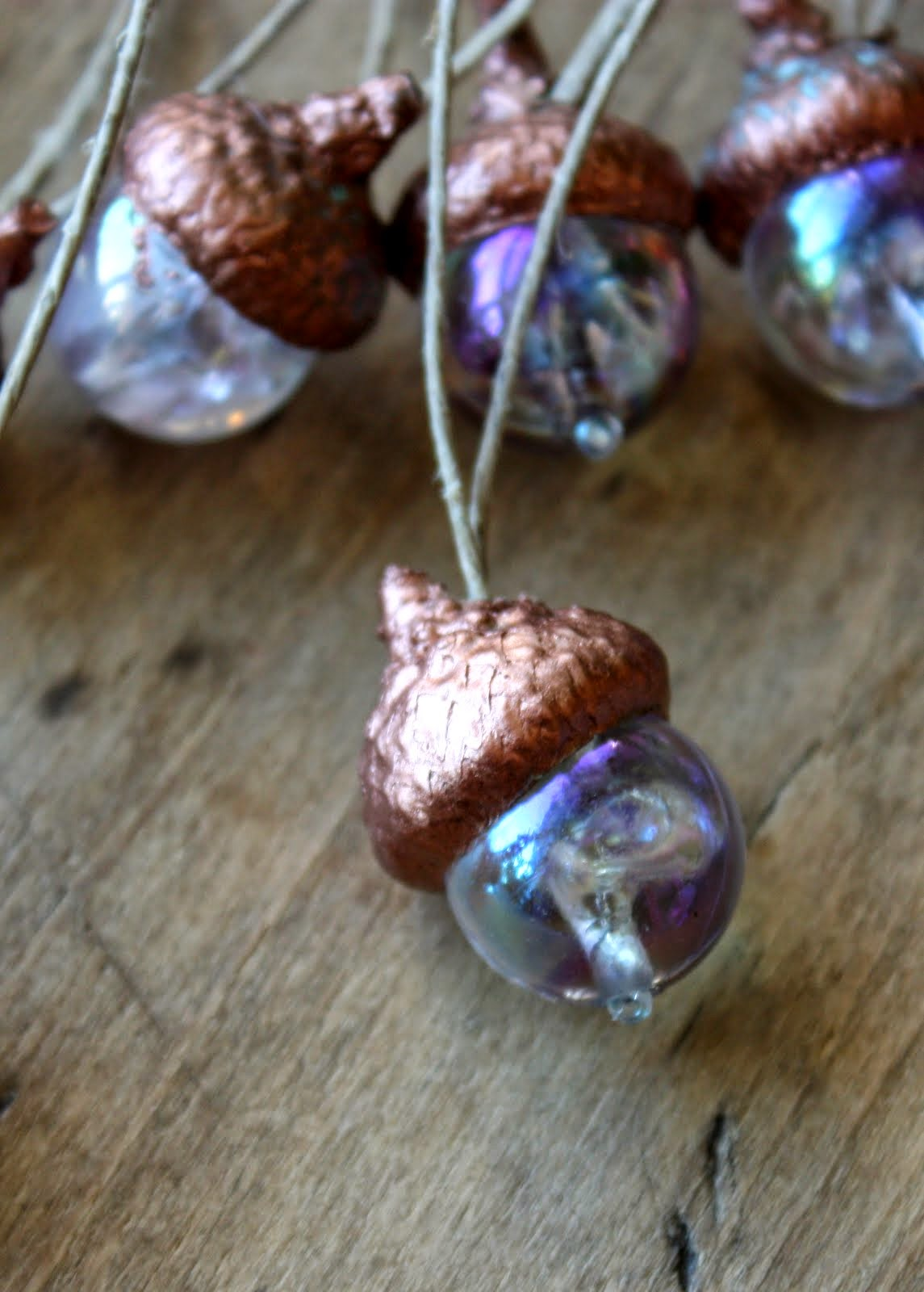 Lil fish studios making acorn ornaments with the kids for How to make acorn ornaments