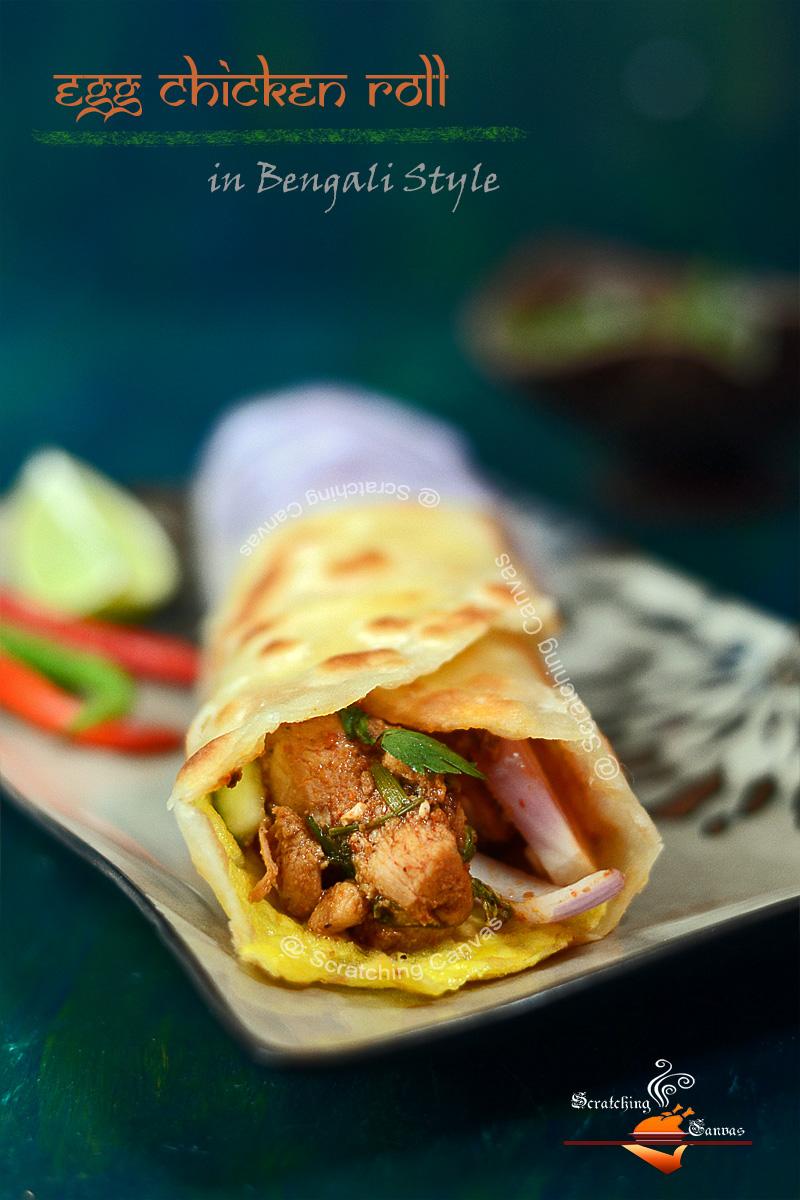 Bengali Chicken Kati Roll Recipe   Kolkata Street Food