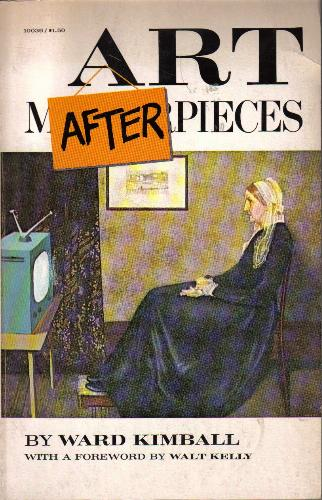 Book cover showing Whistler's Mother sitting in front of a tv.