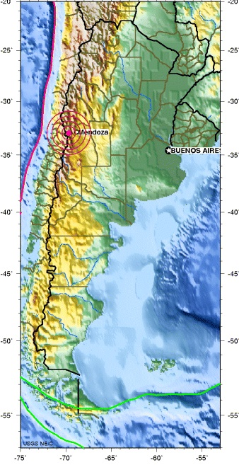 MENDOZA, ARGENTINA earthquake 2012 September 21