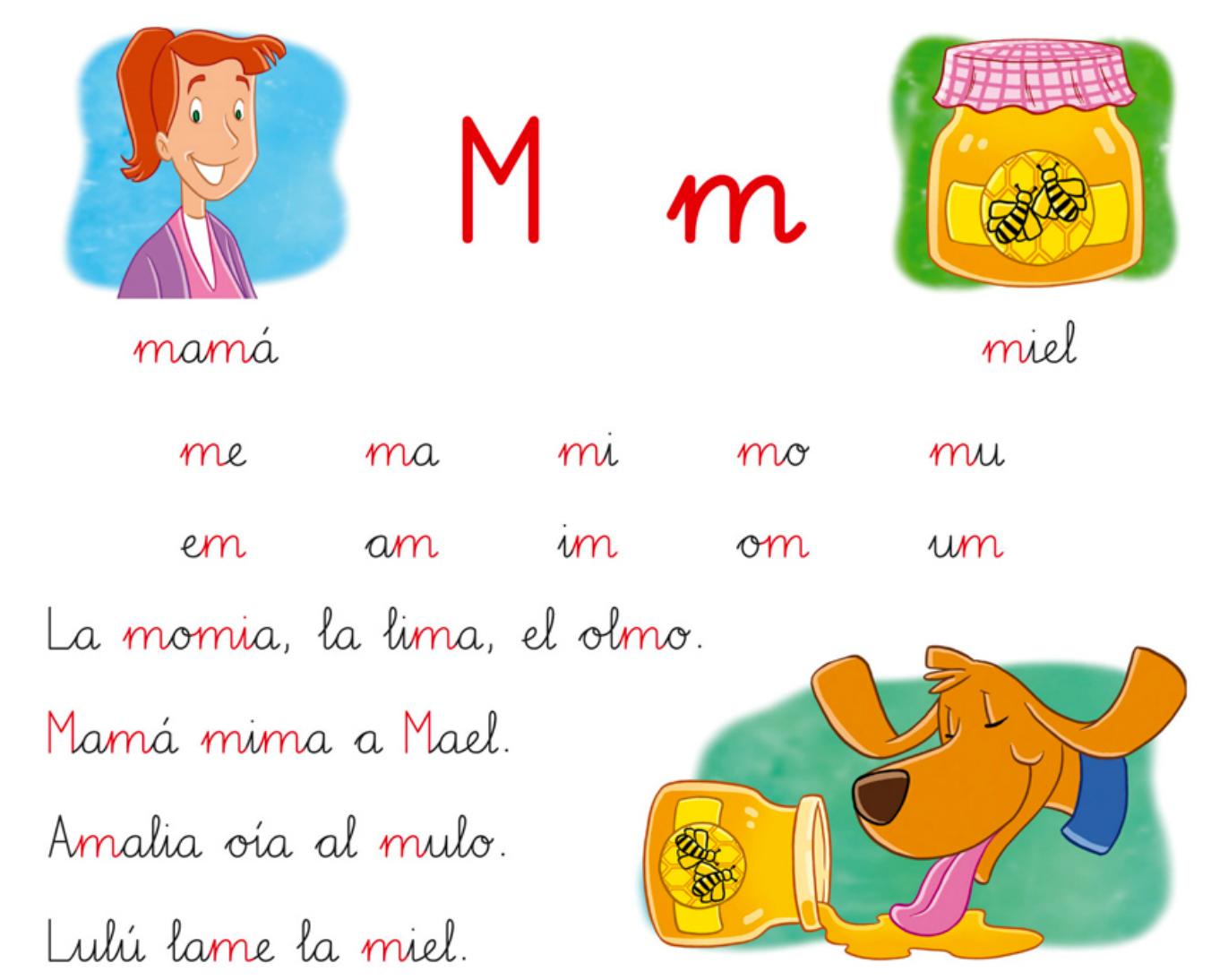 Colorín, colorado en 1ºB: Letra P, L y M