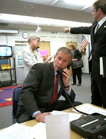 President Bush at the Booker Elementary School in Sarasota