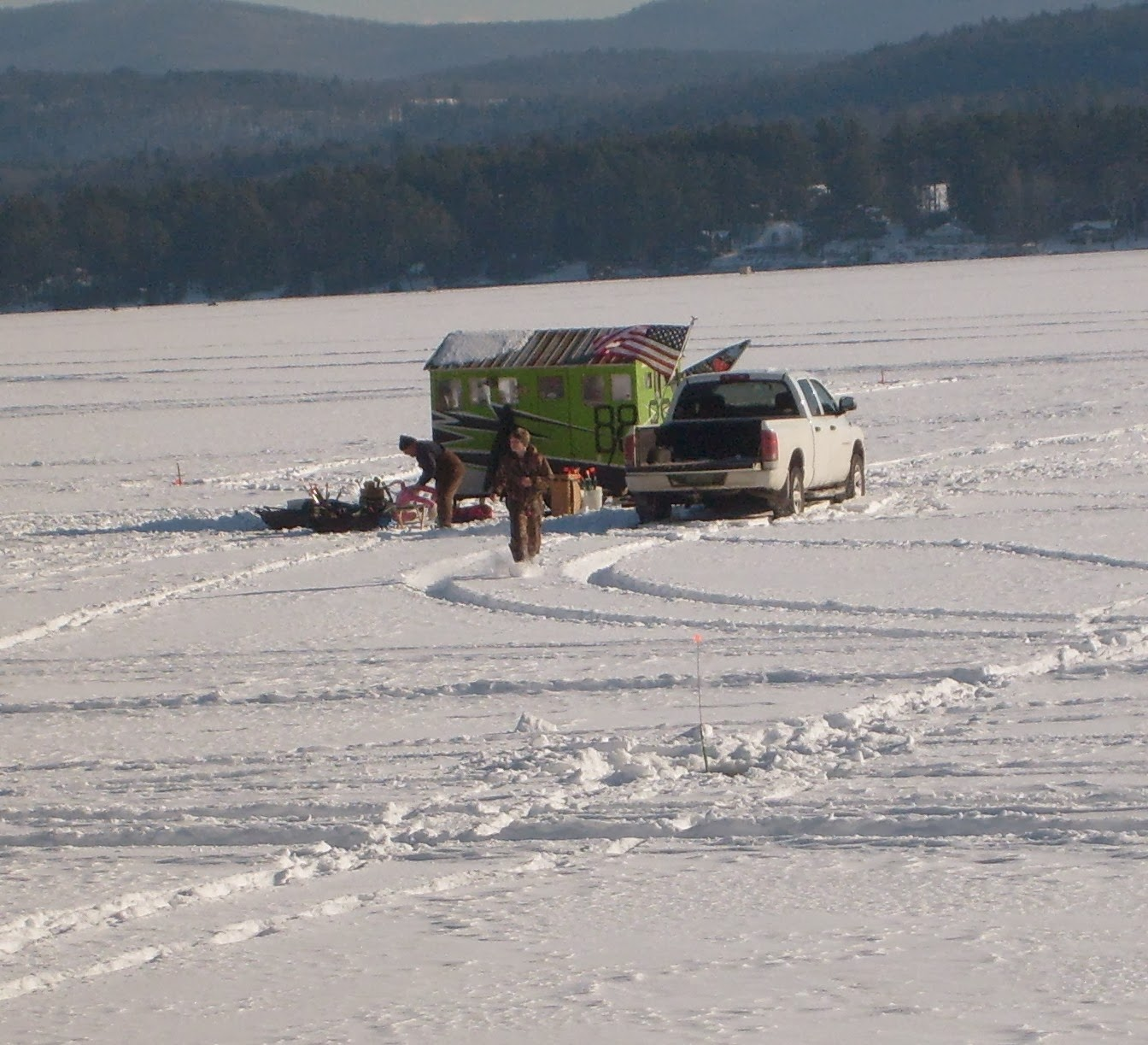 Guided Vermont Ice Fishing Trips Green Dump Access On