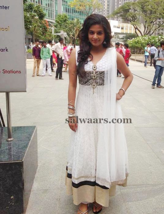 Priyamani White Churidar
