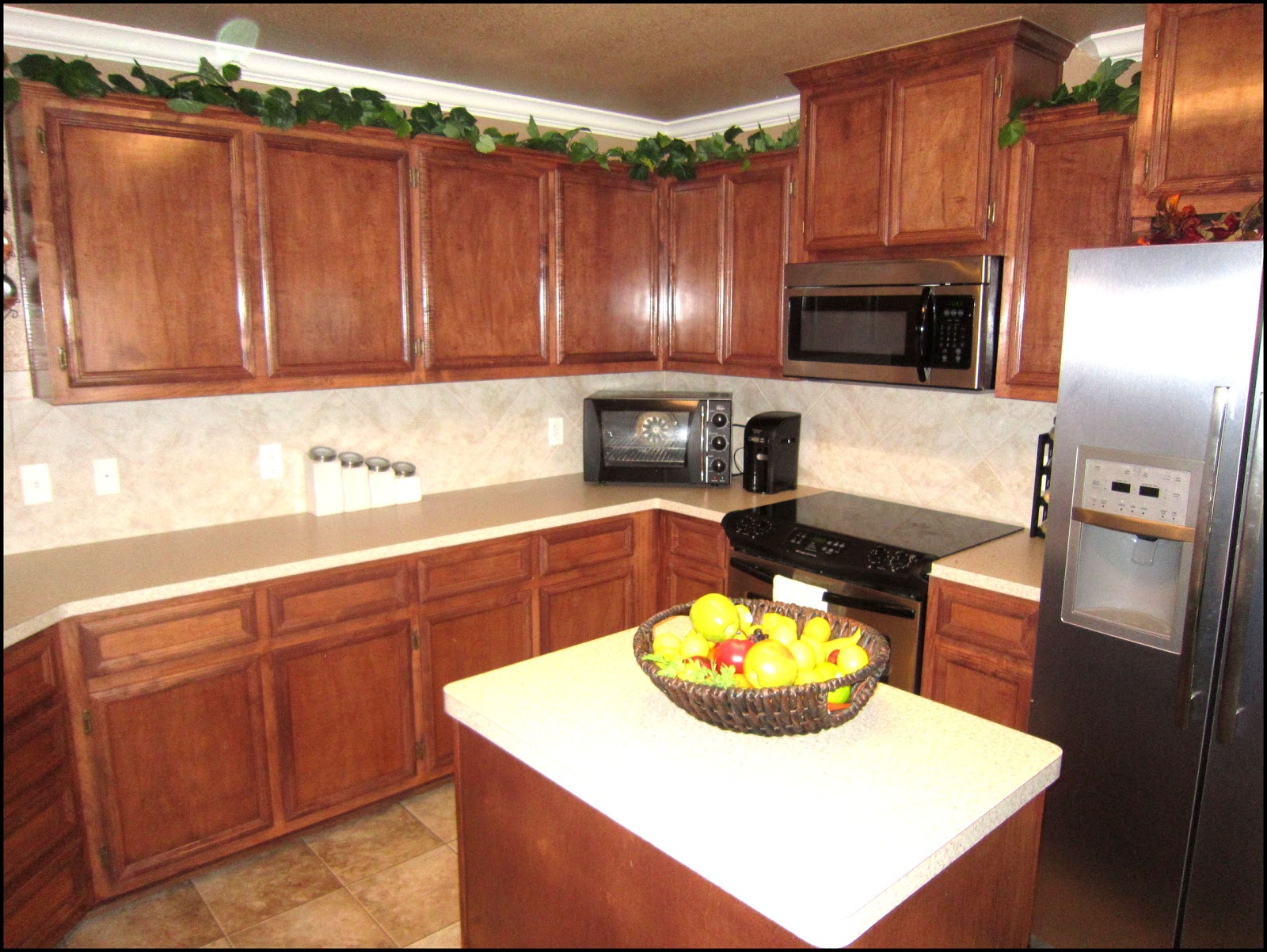 The excellent Before and after kitchen remodels dark cabinet image
