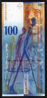 Swiss National Bank 100 Swiss Francs Franken