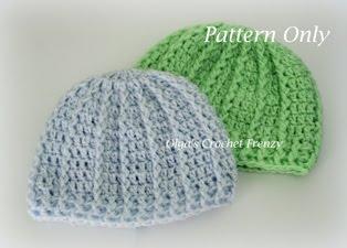 Baby Beanie Crochet Pattern, Size Newborn, $1.75