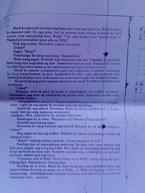 ang guryon by lualhati bautista Panitikan sa panahon ng hapon ang guryon ni ildefonso santos  dekada '70 ni  lualhati bautista ang dekada 70 ay tumatalakay sa.