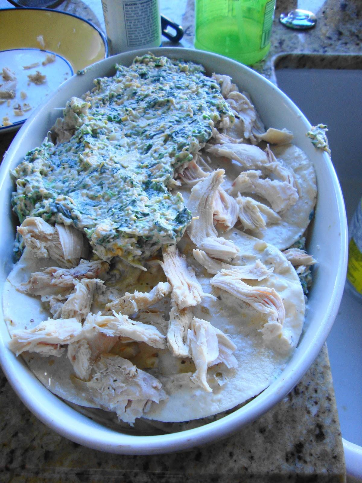 Cooking Underwriter: #GluteFree Chicken Spinach Artichoke Enchiladas ...