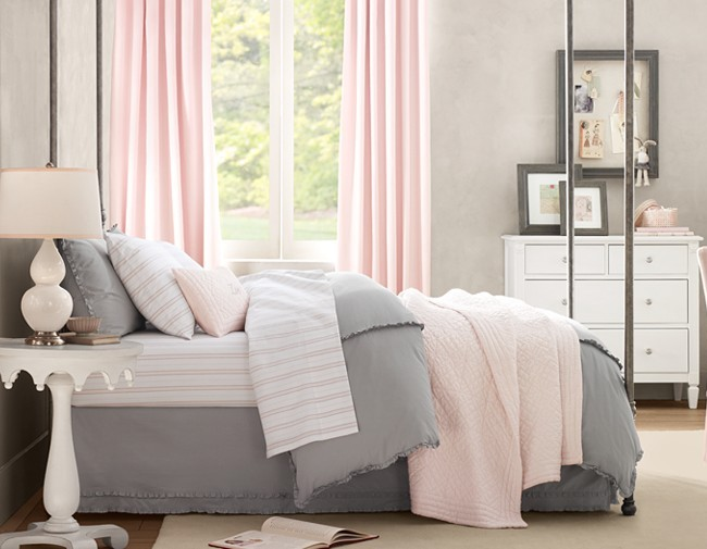 Pink and gray bedroom wt do u think nersian 39 s for Living room ideas pink and grey