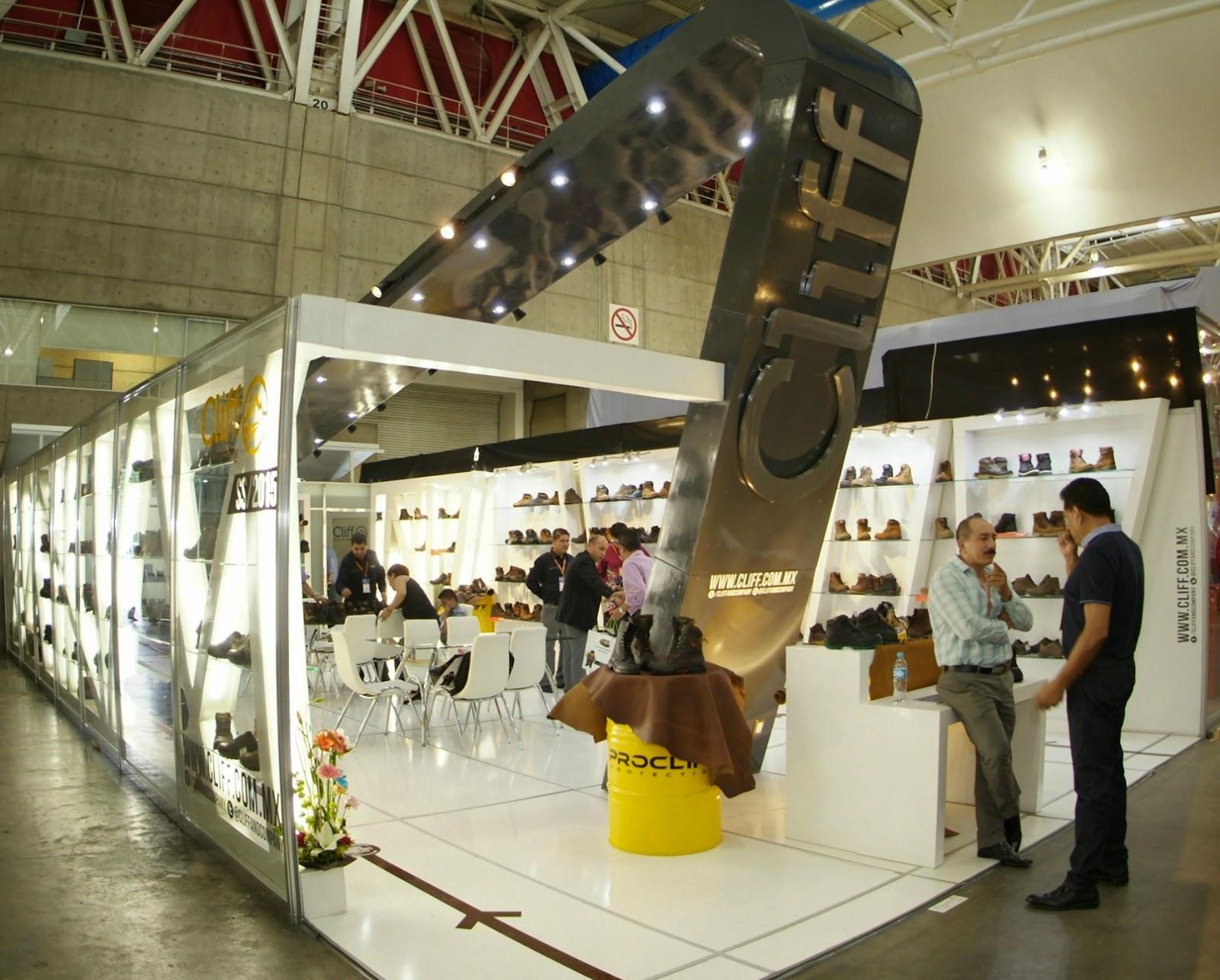 sapica agosto 2014, poliforum, exposición de calzado y artículos de piel, cliff