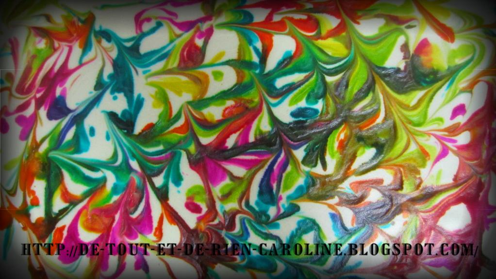 Peinture Rouge Effet Marbrée : De tout et rien activités pour le préscolaire marbled