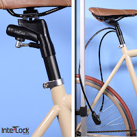 interlock bike lock kickstarter lock that sits inside seat tube hides inside seat inside seat post