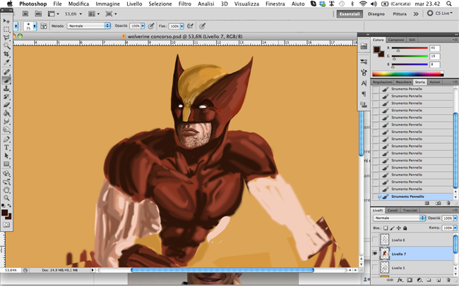 wolverine photoshop digital painting