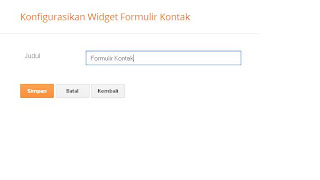 cara memodifikasi contact form blogger