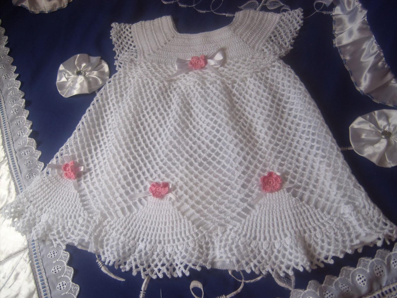 Suficiente Croche da Moda : Vestido de crochê infantil SC83