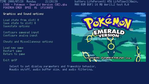 gba emulator on psp: