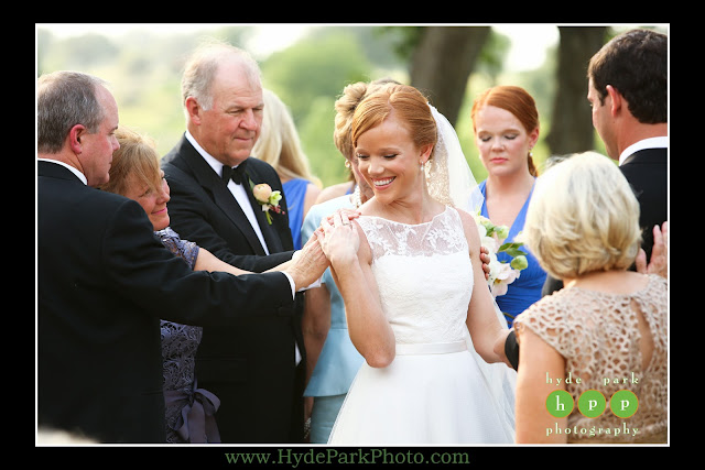 Family prayer at Escondido Golf Club wedding by The Fairy Godmothers Weddings & Events