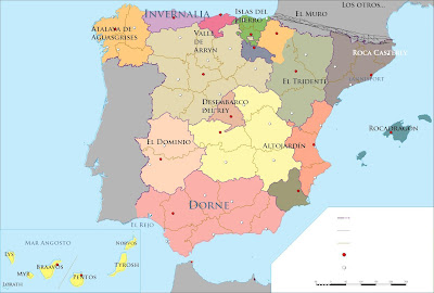 game of thrones map Spain