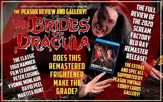 BELOW: FULL PCASUK REVIEW OF SCREAM FACTORY REMASTERED BLU RAY HAMMER FILMS THE BRIDES OF DRACULA
