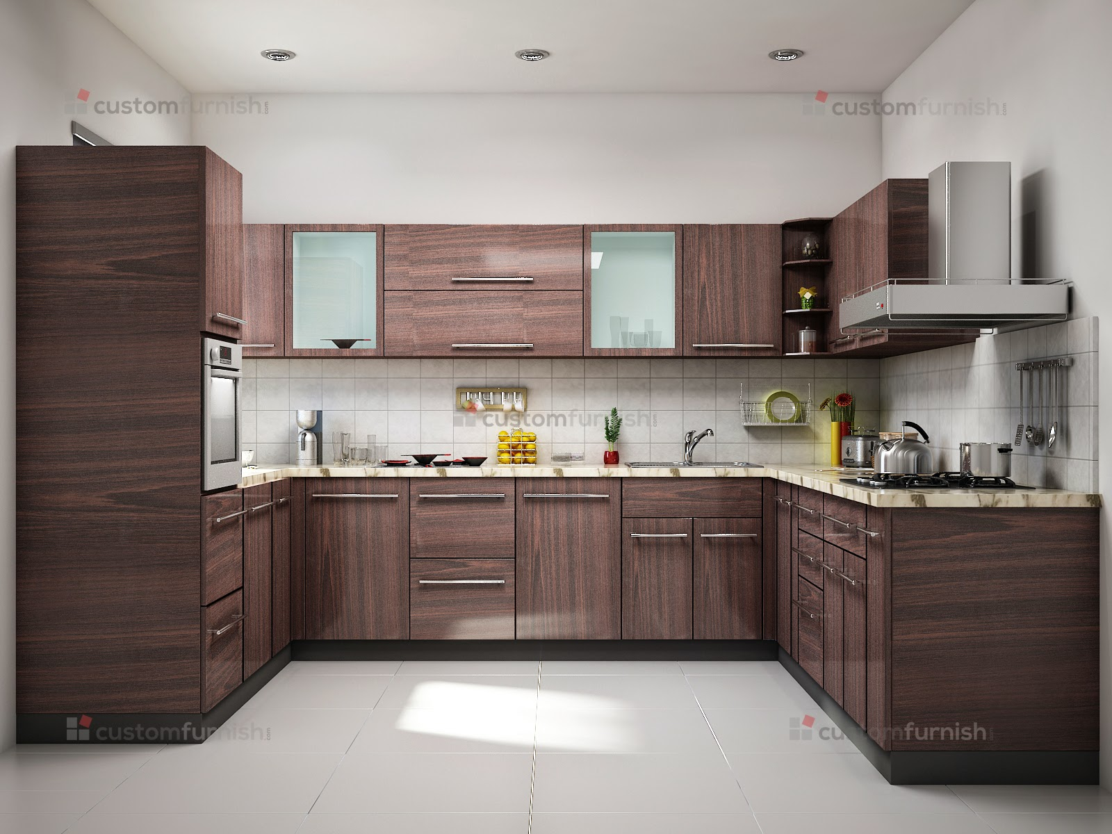 Stylish and modern kitchens interior decor blog I shaped kitchen