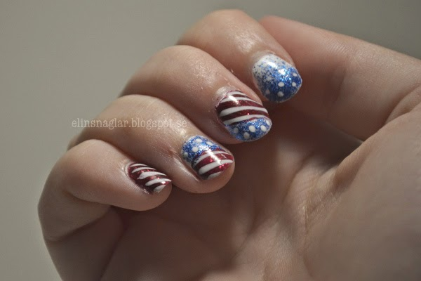 4th Of July Nail Art av Elins Naglar