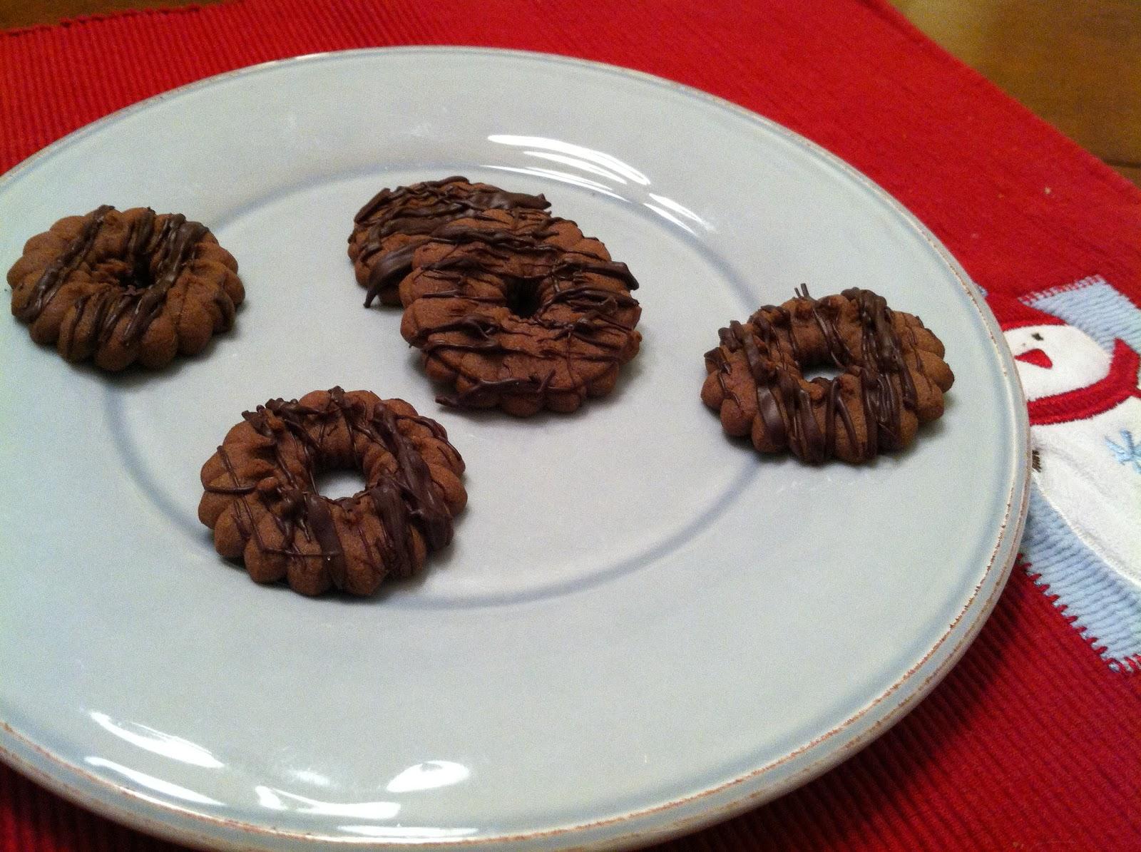 Hazelnut Spritz Cookies