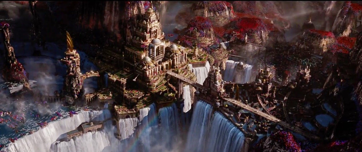 "One of the breathtaking environments in ""Jupiter Ascending"""