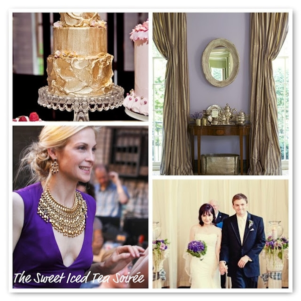 I just love the boldness of purple and gold when they are paired together